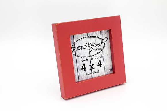 """4x4 1"""" Gallery Picture Frame - Mojave Red"""
