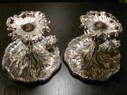 Swedish chambersticks pair
