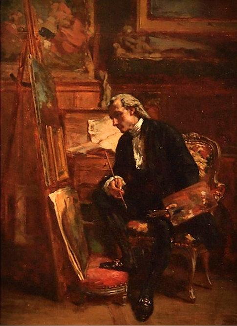 Victor-Joseph Chavet (French, 1822-1906)  The Artist in his Studio, c1860