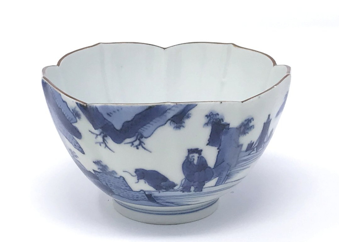 Ai-Kakiemon Scheveningen lotus bowl c1690