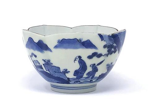 A 17thc Japanese Ai Kakiemon lotus bowl, 'Scheveningen', van Frijtom, c1690
