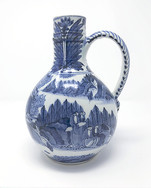 Export beer jug, Scholars in the Wilderness, c1665