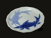 Arita Ko-Imari Sweetfish dish, c1690