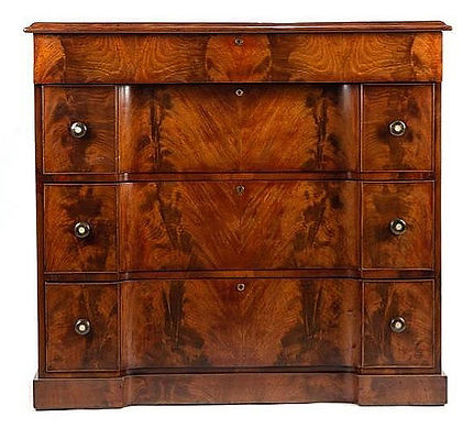 William IV mahogany inverted front chest