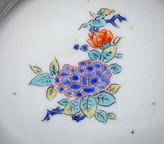 Arita Kakiemon shallow bowl, flowering Hydrangea, c1690-1710