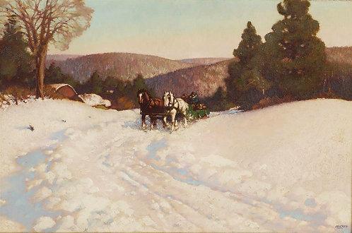 Harold Wellington McCrea, RCA (Canadian, 1887-1969), 'The Hill Road', c1930