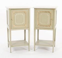 Louis XVI tables chenets pair