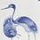Thumbnail: A superb 17thc Japanese Ai Kakiemon cranes dish, Nangawara kiln Arita c1660-1670