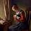 Thumbnail: Elisabeth Jerichau-Baumann (Danish, 1819-1881) The Stocking-Mender circa 1868