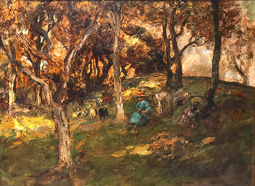 William Mouncey (Scottish 1852-1901) A Cool Retreat, circa 1895
