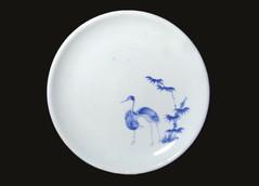 Ai-Kakiemon cranes dish, Nangawara kiln, c1660
