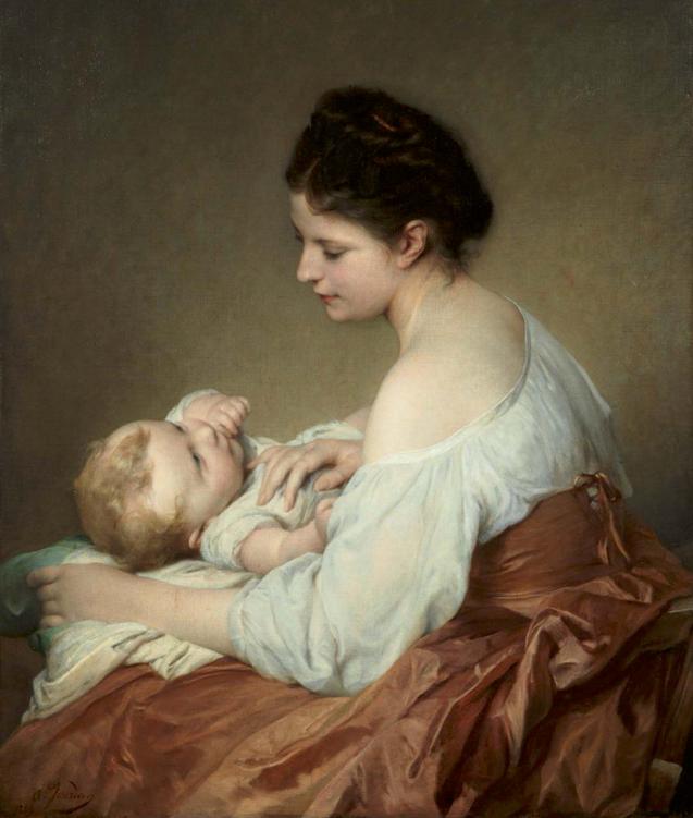 ADOLPHE JOURDAN | Maternite | dated 1889