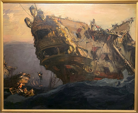 Sir Frank Brangwyn, ARA (Welsh, 1867-1956) 'After Trafalgar' c1911