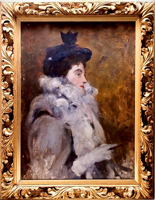 John Da Costa (British, 1867-1931)  Portrait of Emilia Frances Lady Dilke, 1895