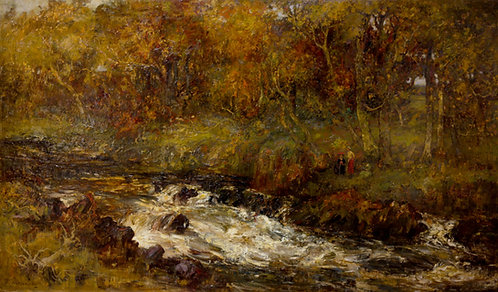 William Mouncey (Scottish 1852-1901) The Dark Rolling Dee, 1899