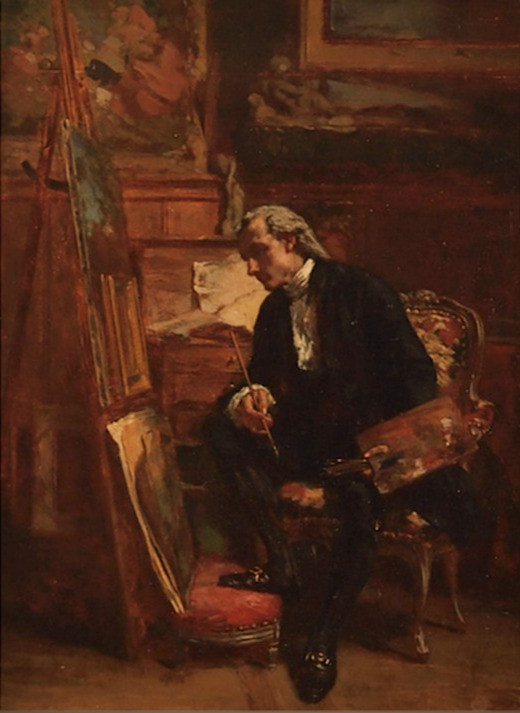 VICTOR-JOSEPH CHAVET   Artist in his Studio   c1860