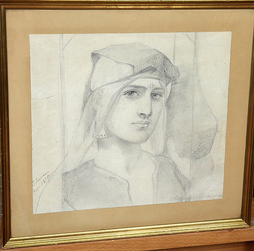 "Elisabeth Jerichau-Baumann (Danish, 1819-1881) ""Egyptian girl"" Cairo 1870"