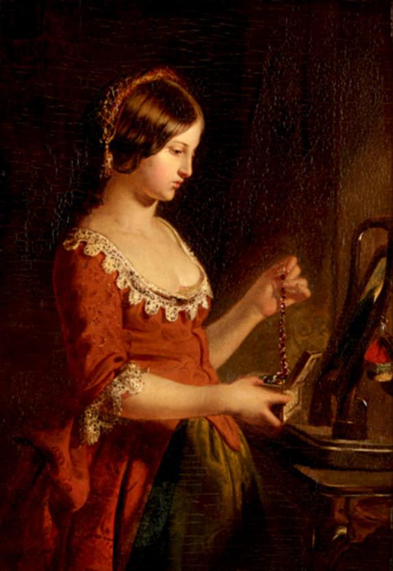 JAMES ECKFORD LAUDER | The Jewel Casket | exhibited RSA 1850