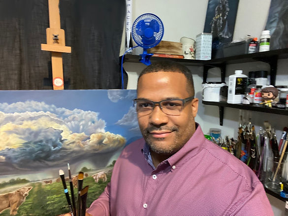 Ricardo Robles in his studio