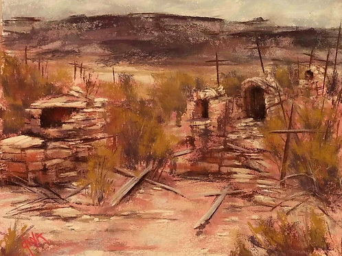 Terlingua Ghost Town cemetery landscape by Dina Gregory