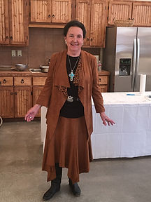 rancher artist gallery owner Roxa Medley Robison at old spanish trail gallery and museum on crows nest ranch outside ft davis texas