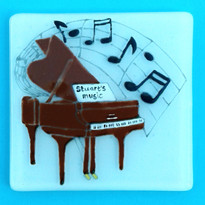 Personalised piano coaster