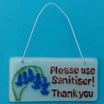 Sanitiser sign