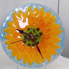 Sunflower Clock round