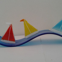 Yachts on a wave