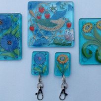 William morris style coasters and keyrings