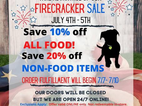 FIRECRACKER SALE!!