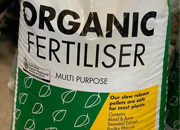 Grow Better Organic Fertiliser 25 kg pellets