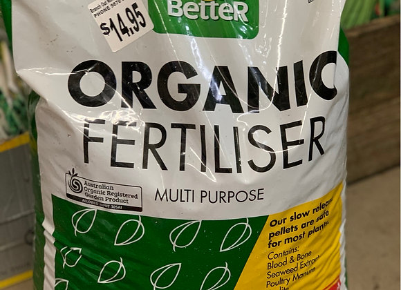 Grow Better Organic Fertiliser 7 kg pellets