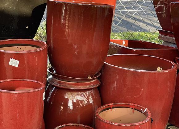 High Cup - Glaze Wine LRG includes saucer