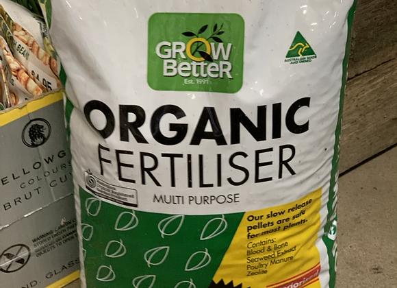 Grow Better Organic Fertiliser 2.5 kg pellets
