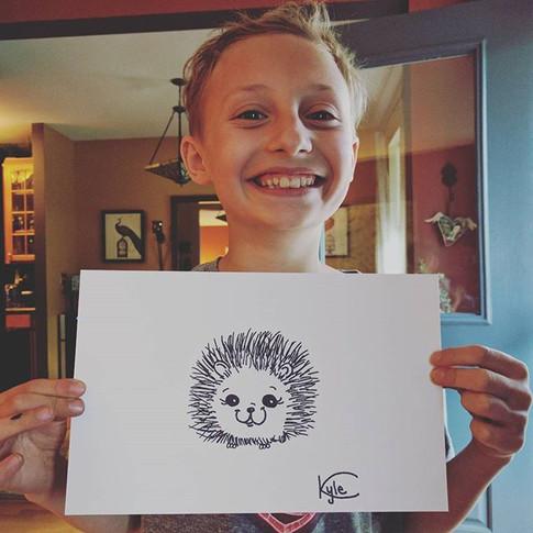 Hedgehog!! #imagineartsplainfield