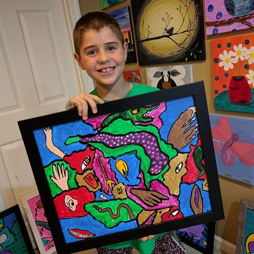 Gabe's AWESOME Picasso abstract! #imagin