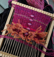 Watching Narnia and weaving on a loom.jp