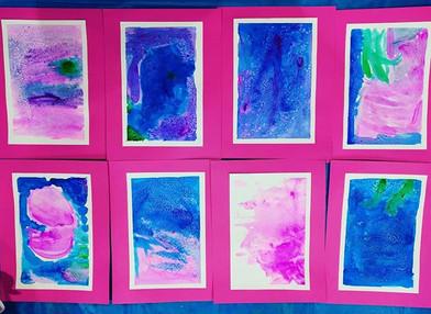 PreK and Kinders Watercolors with Salt �
