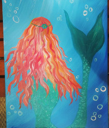 Painting Mermaids today!