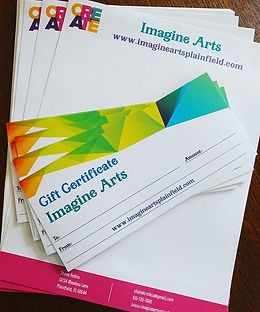 New! Imagine Arts Gift Certificates have