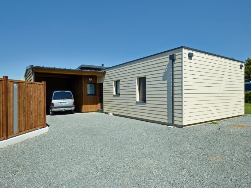 wood composite cladding garage