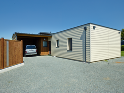 wood composite cladding garage