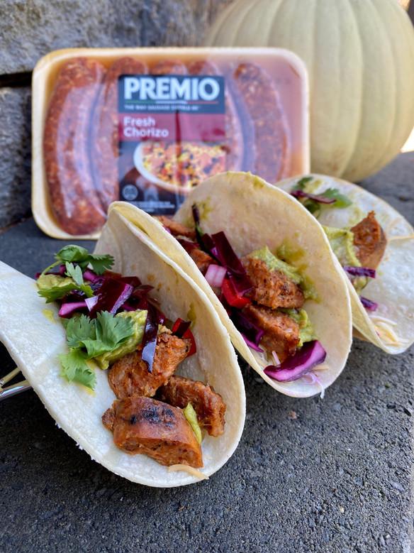 Tailgate Tacos Ft. Premio Foods Fresh Chorizo