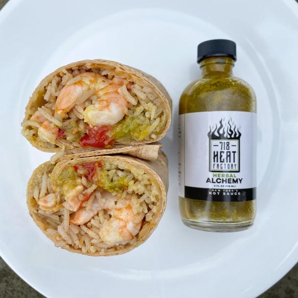 Herbal Alchemy Shrimp Burrito