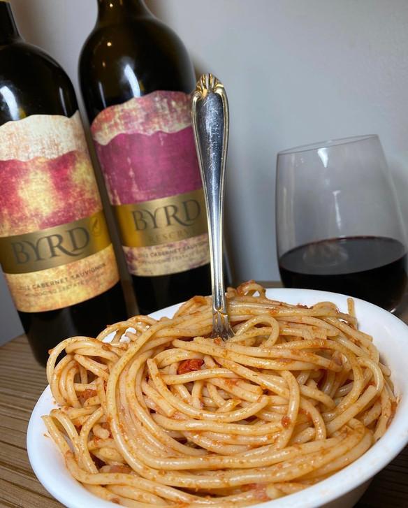 Spicy Red Wine Tomato Sauce ft. Byrd Vineyard Cabernet Sauvignon