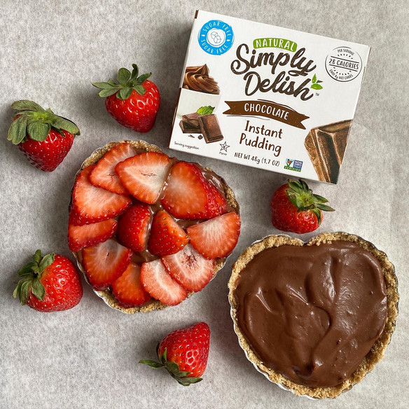 No Bake Chocolate Strawberry Pie ft. Simply Delish Chocolate Instant Pudding