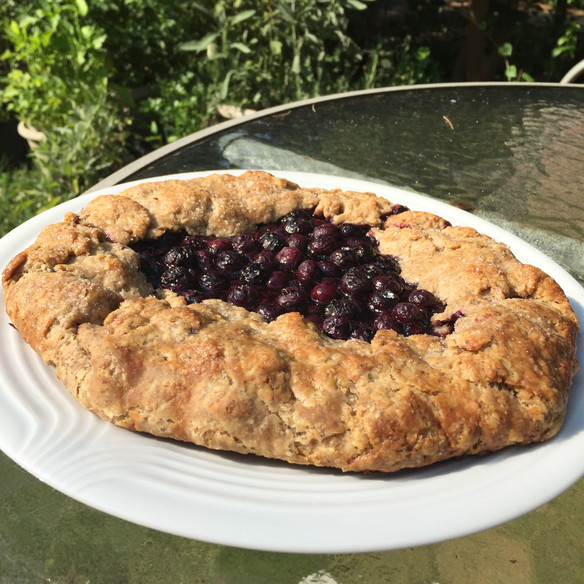 Blueberry-Walnut Galette