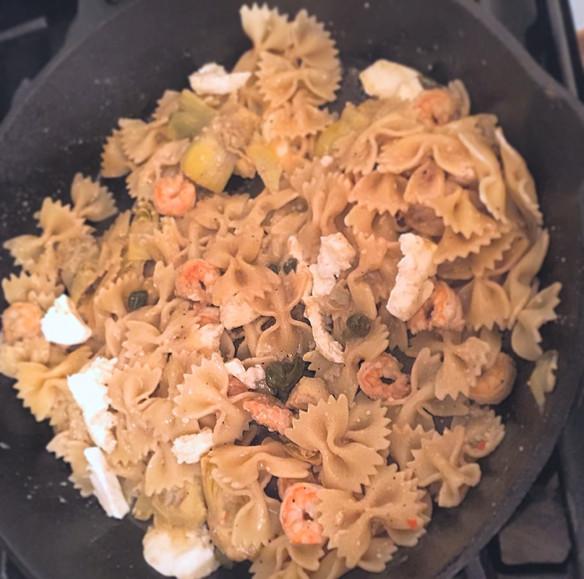 Simple Skillet Pasta & Shrimp
