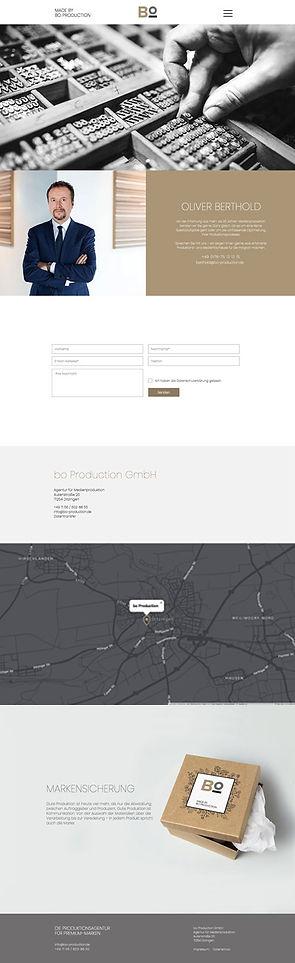 woa hamburg werbeagentur, Projekt Webdesign.